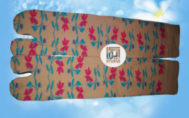 Grosir kaos kaki motif bunga merah biru